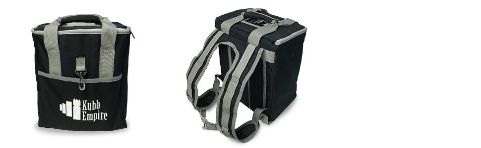 Kubb Empire Standard Edition Premium Hardwood Set With Backpack