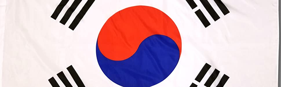 High Supply 3x5 South Korea Flag With Double Stitched Edges Two Brass Grommets And 100 Polyester Fabric 3x5 South Korea Flag Of South Korea 3x5 South Korean Flag Garden