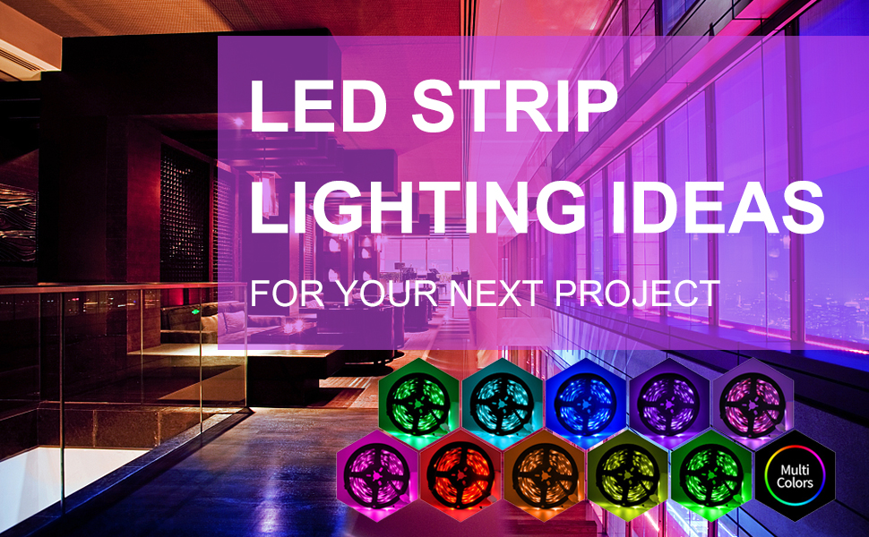 Led Strip Lights L8star 16 4ft Rgb 5050 Leds Color Changing Kit 24key Remote Control And Power Supply With Bluetooth Smartphone App Controller For