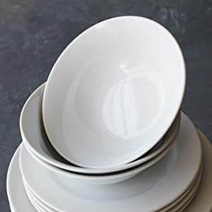 Simple and stylish our 24-piece Bistro dinnerware set complements any décor. Down-to-earth classic our versatile whiteware collections are the perfect way ... & Amazon.com | Sur La Table Bistro 24-Piece Dinnerware Set DO24Y900 ...