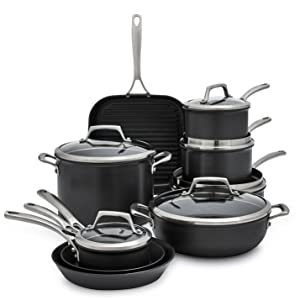 Amazon.com: Sur La Table Dishwasher-Safe Hard Anodized Nonstick 15 ...