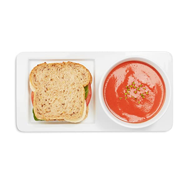 Our white soup and sandwich serving set is perfect for classic combos like tomato soup and grilled cheese and complements any décor. Down-to-earth modern ...  sc 1 st  Amazon.com & Amazon.com | Sur La Table Soup and Sandwich Serving Set HP5676: Bowls