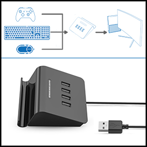 IFYOO KMAX1 Keyboard and Mouse Adapter For PS4 / Xbox One / Switch / PS3