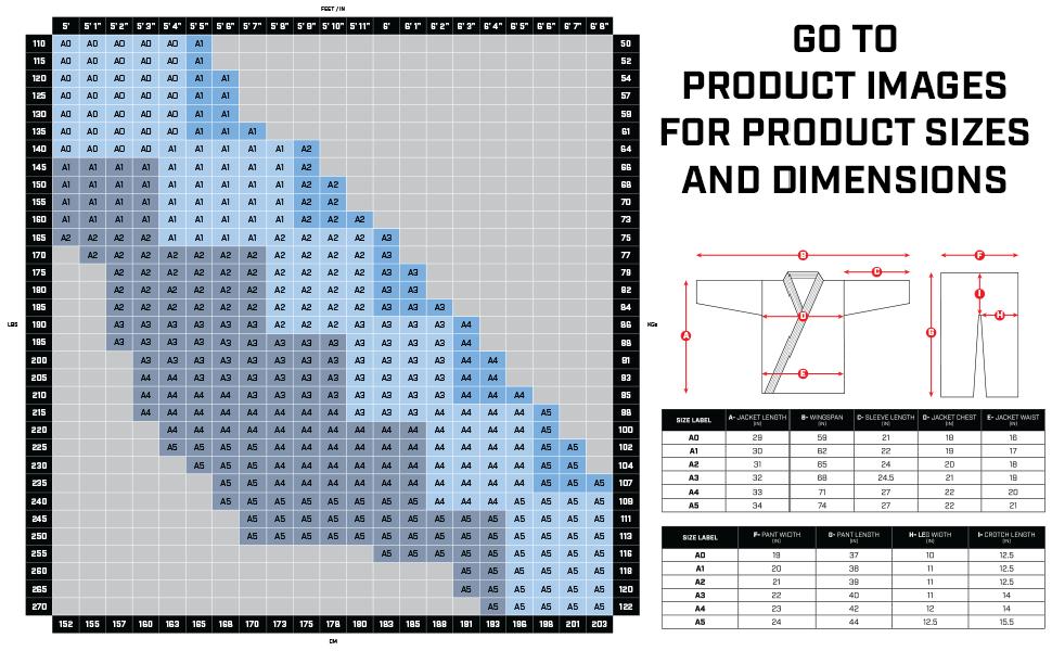 Hayabusa Gi Size Chart