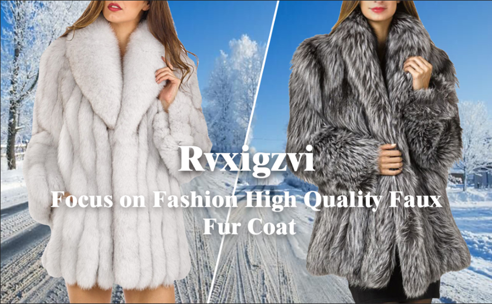 1ed9e2fbeab Rvxigzvi Womens Faux Fur Coat Parka Jacket Long Trench Winter Warm Thick Outerwear  Overcoat Plus Size XS-4XL