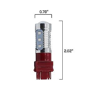 7443 Red LED Stop Brake Flash Strobe Rear Alert Safety Warning 12-LED Light  Bulbs