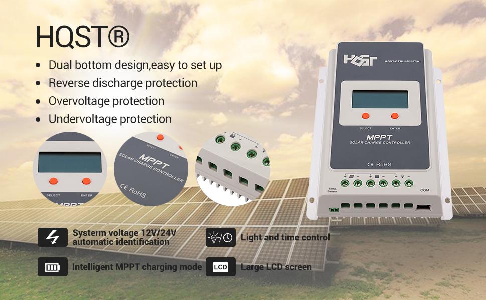 Amazon Com Hqst 20a Positive Ground Mppt 12v 24v Battery
