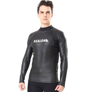 Flexel Wetsuit Tops/Pants, 2mm Premium Neoprene Wet Suit Jacket/Scuba Diving Vest for Swimming Snorkeling Surfing Fishing XSPAN Front Zipper Suit