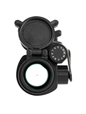 Primary Arms Silver Series Advanced 30mm 2 MOA Red Dot Reticle Front Profile View with Flip-Up Caps