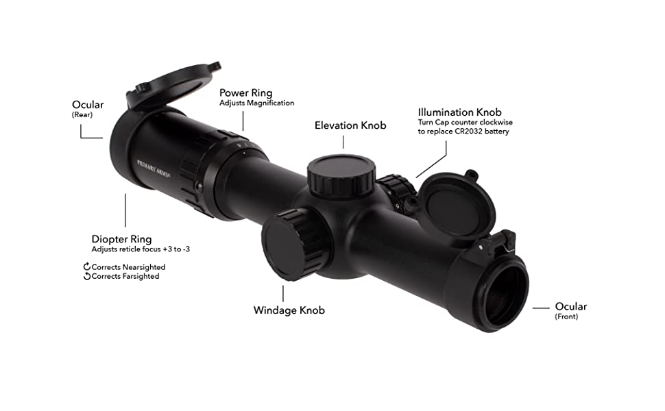 Primary Arms Silver Series 1-8x24 SFP Rifle Scope Illuminated ACSS 5.56 5.45 .308 Reticle