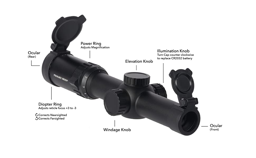 Primary Arms 1-6x SFP Rifle Scope KISS Reticle Optic Parts Breakdown