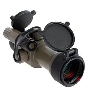 Primary Arms Advanced 30MM Red Dot 2 MOA Dot Flip Up Lens Covers Flat Dark Earth FDE 2 MOA Dot Side