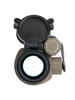 Primary Arms Advanced 30MM Red Dot Sight Optic Flat Dark Earth FDE 2 MOA Dot Reticle Lens View