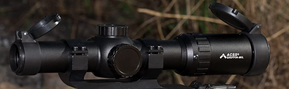 Primary Arms Silver Series 1-6x24mm FFP Rifle Scope - Illuminated ACSS-RAPTOR-5.56/.308 Lifestyle