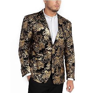 Amazon.com: WULFUL - Blazer para hombre con solapa con ...