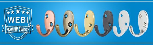 Amazon.com: WEBI - Perchero de metal resistente con doble ...