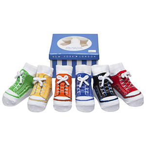 c35b0165fee1b9 Baby Emporio sneakers socks stay up vans converse box trumpette black blue  non slip trendy cute