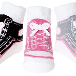 Pink and lavender baby socks,Gender neutral,First size socks,Knit baby socks Baby booties