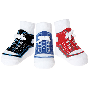 Baby anti slip socks boys 3pr 0-12 month cotton soft