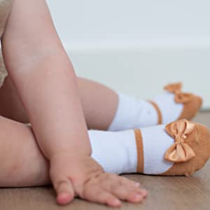 Gift for newborn Soft Combed Cotton Baby Infant Toddler Girl Shoe Look Socks-Anti slip Soles 3 Pairs