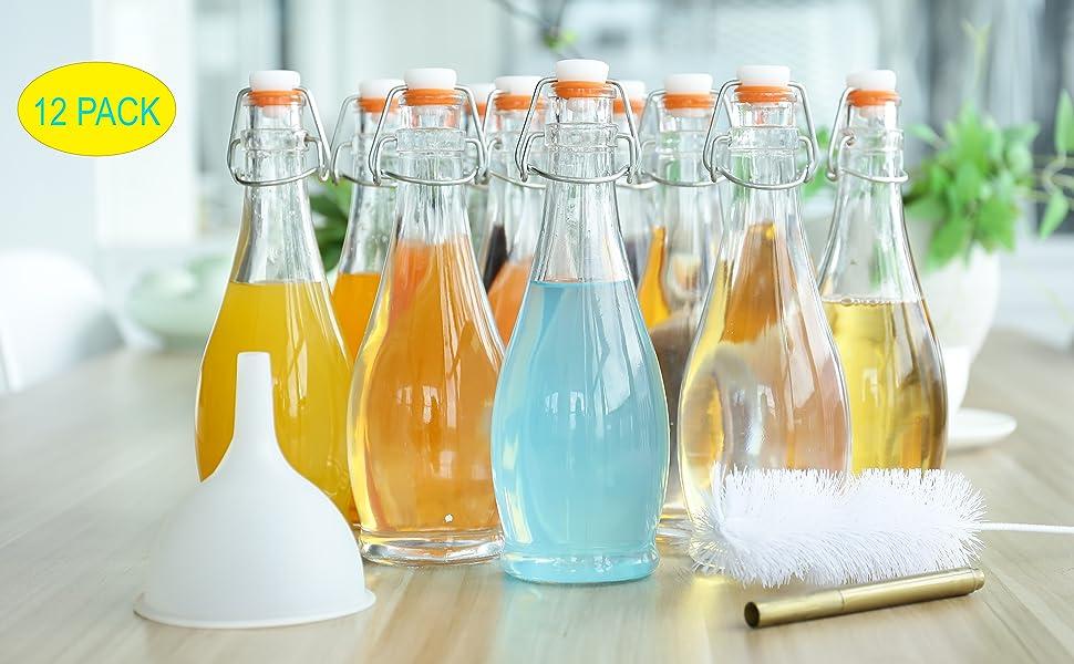 12 pack glass bottles