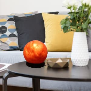 living room sphere salt lamp