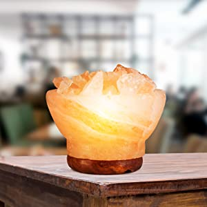 table salt bowl lamp