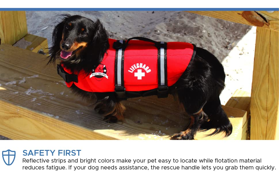dog puppy life jacket pet outward paws aboard boating sailing pool water harness neoprene nylon