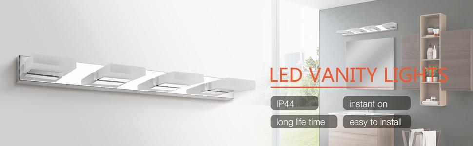 Amazon.com: Mirrea - Lámpara LED de vainidad (16 W, 4 luces ...