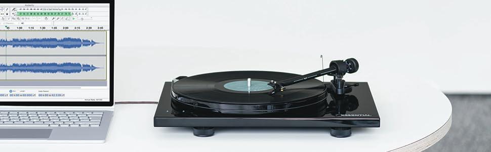 Amazon.com: Pro-Ject Essential III RecordMaster rojo (alto ...