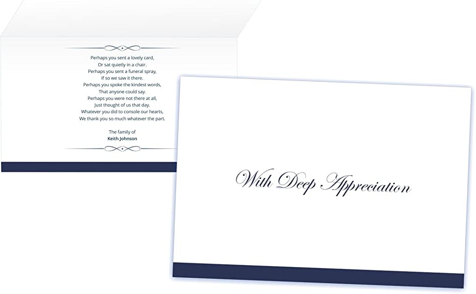 Amazon Com Personalized Funeral Thank You Cards And Envelopes Set