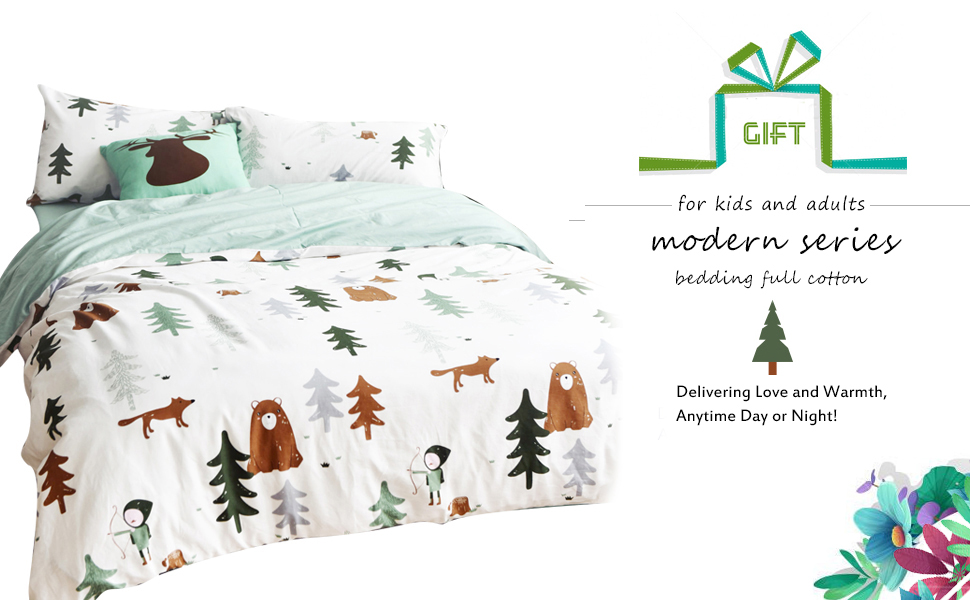 Amazon Com Bulutu Siberia Forest Theme Boys Duvet Cover