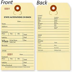 Heavy-duty Manila Alterations Tags, 2-sided Alteration Tag, Cardstock