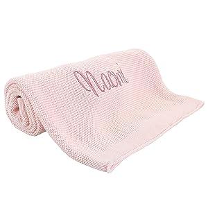 pink girl baby blanket