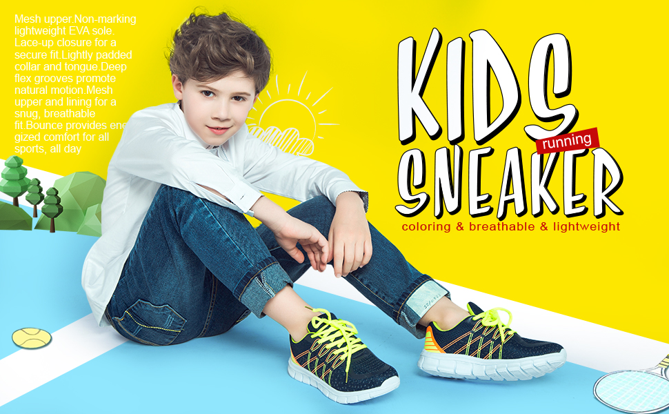 hawkwell kids running shoes for boys girls walking sneaker