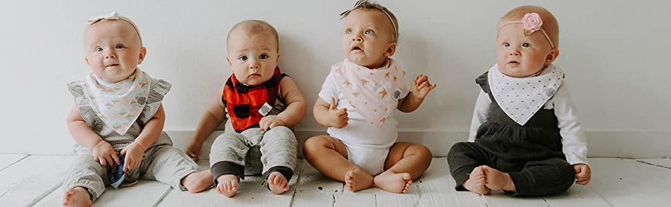Bandana Bib Sets for drooling and teething babies