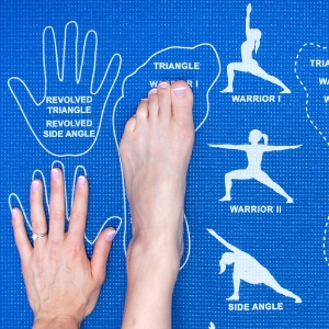 Yoga mat with hand and feet