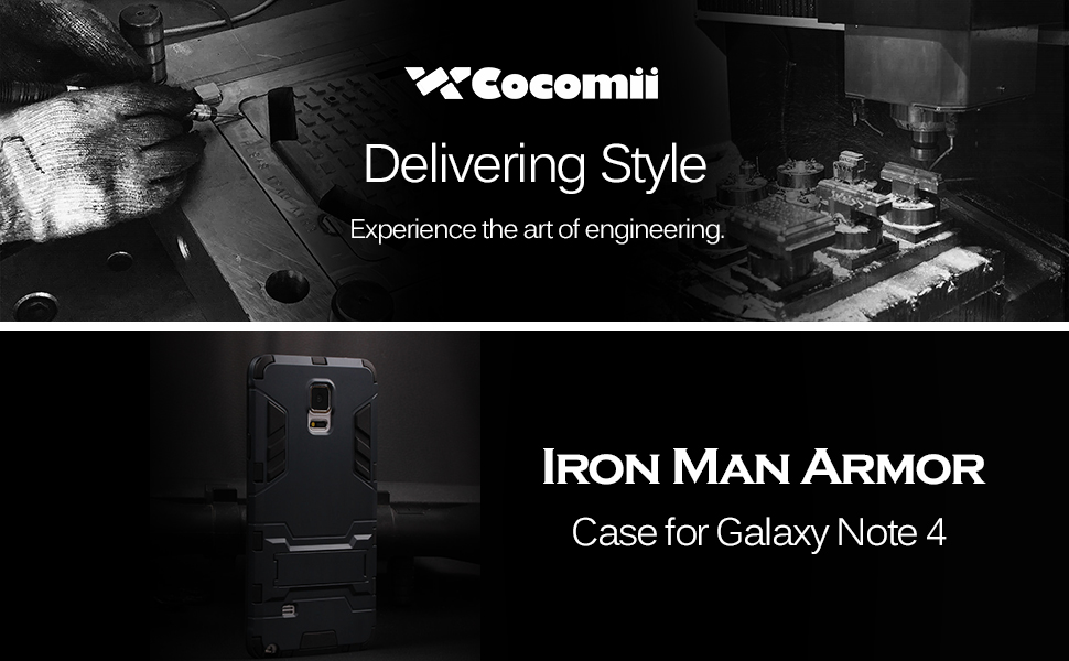 Galaxy Note 4 Case Iron Man Armor