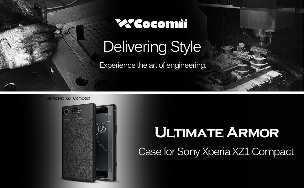 Cocomii Ultimate Armor Sony Xperia XZ1 Compact Case New [Heavy Duty] Premium Tactical Leather Pattern Grip Slim Fit Shockproof Bumper [Military ...