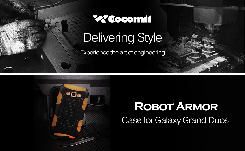 Cocomii Robot Armor Galaxy Grand Duos/Lite/Neo Case New [Heavy Duty] Premium Belt Clip Holster Kickstand Shockproof Bumper [Military Defender] Full ...