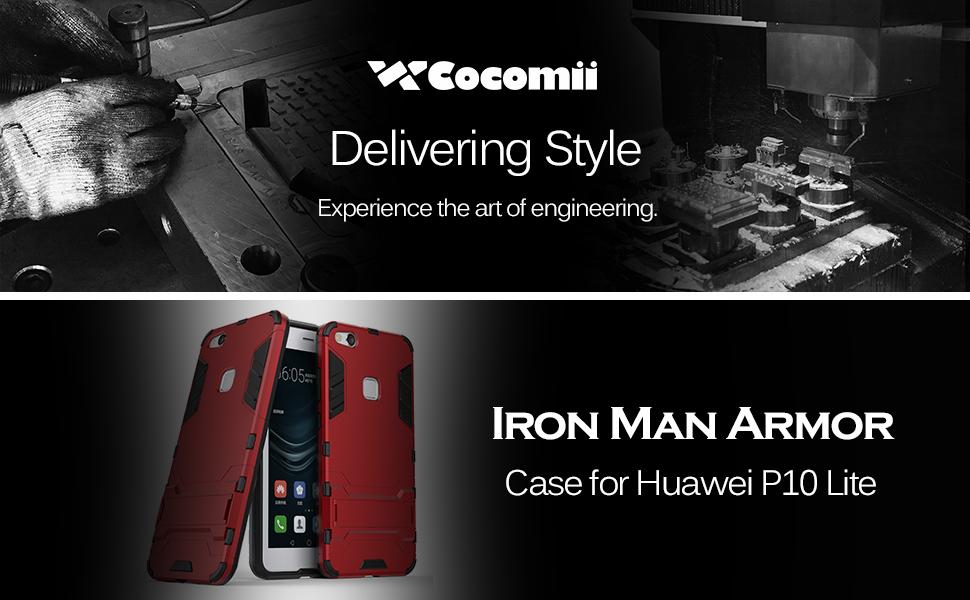 Cocomii Iron Man Armor Huawei P10 lite/Nova Youth Case, Slim Thin Matte Vertical & Horizontal Kickstand Reinforced Drop Protection Fashion Bumper ...