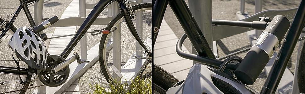 How to use Via Velo bike u lock with cable