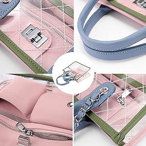amazing designer purse gift present transparent plastic good bags