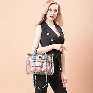 Designer clear purse