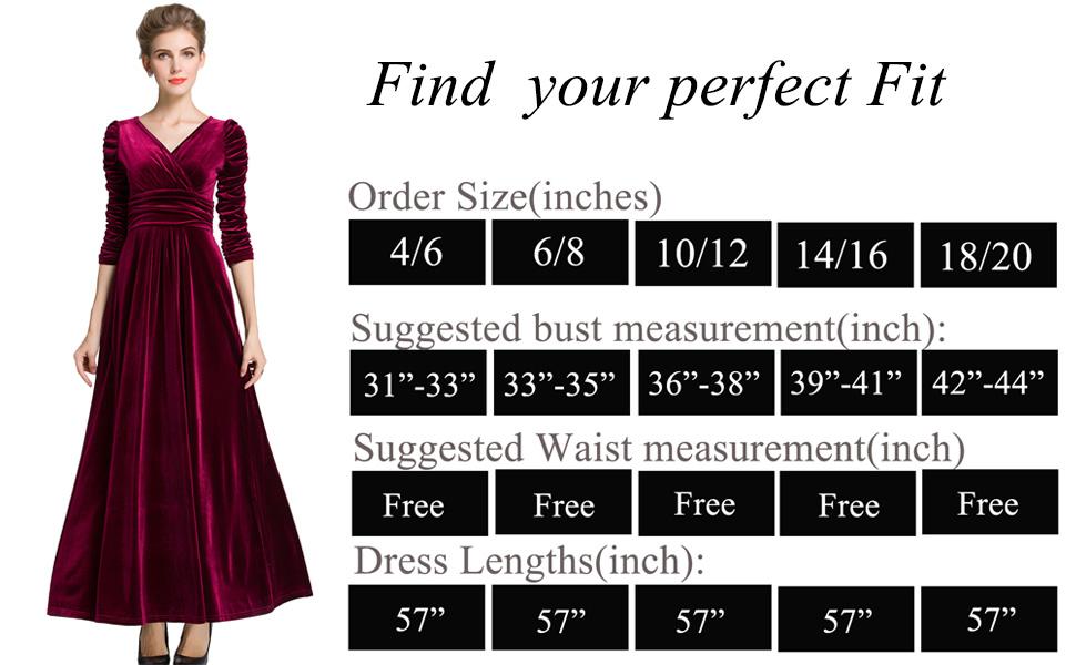 840c68bdf4b MedeShe Women s Christmas Long Sleeve V Neck Velvet Maxi Dress at ...