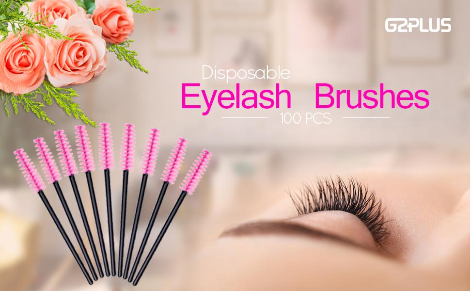 ce10d87428a Amazon.com: G2PLUS Disposable Eyelash Mascara Brushes Wands ...