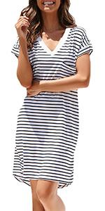 Women Cotton T-shirt Dress