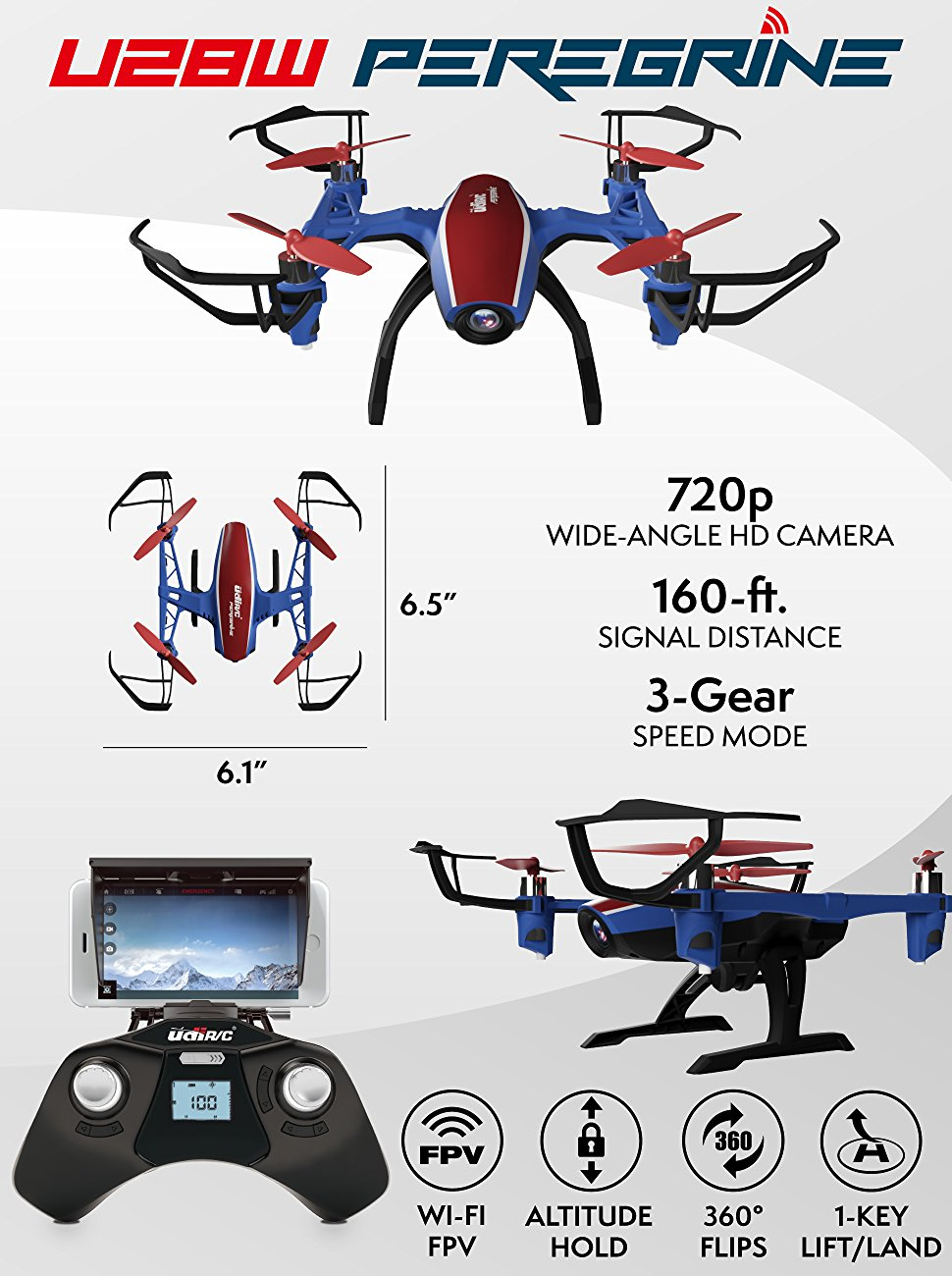 FPV drones drones HD camera live video force1 stunt VR wifi rc quadcopter kit remote control android