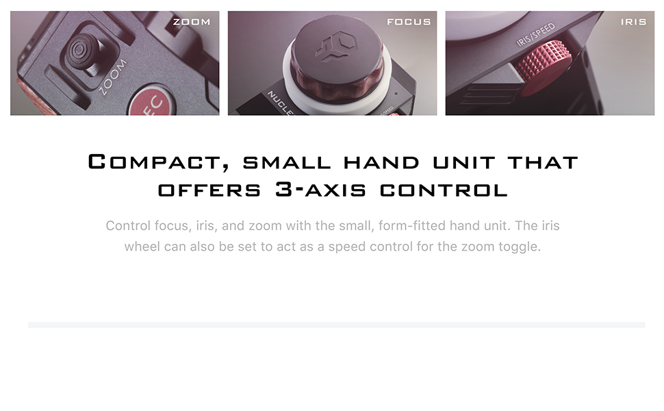 Compact Small hand unit that offers 3-axis control