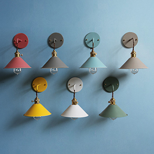 iyoee wall sconce lamps lighting fixture with on off switch gray macaron wall lamp e26 edison copper lamp holder with frosted paint body bedside lamp